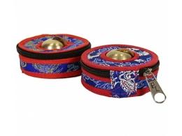 Kott Tiibeti kelladele - sinine-punane - 9 cm - SOODUSPAKKUMINE